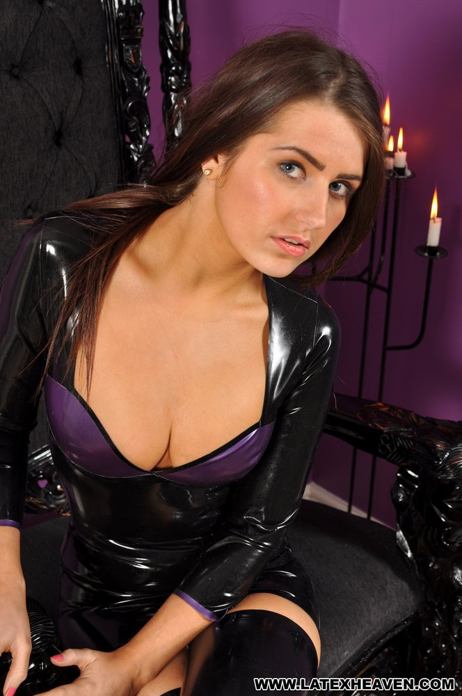 Theme simply black latex dress heaven lana